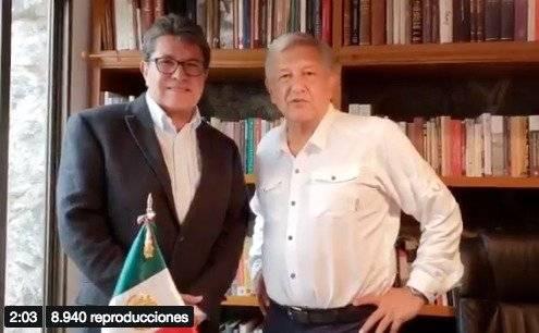 Ricardo Monreal es presidente de la Jucopo. Foto: Captura de pantalla