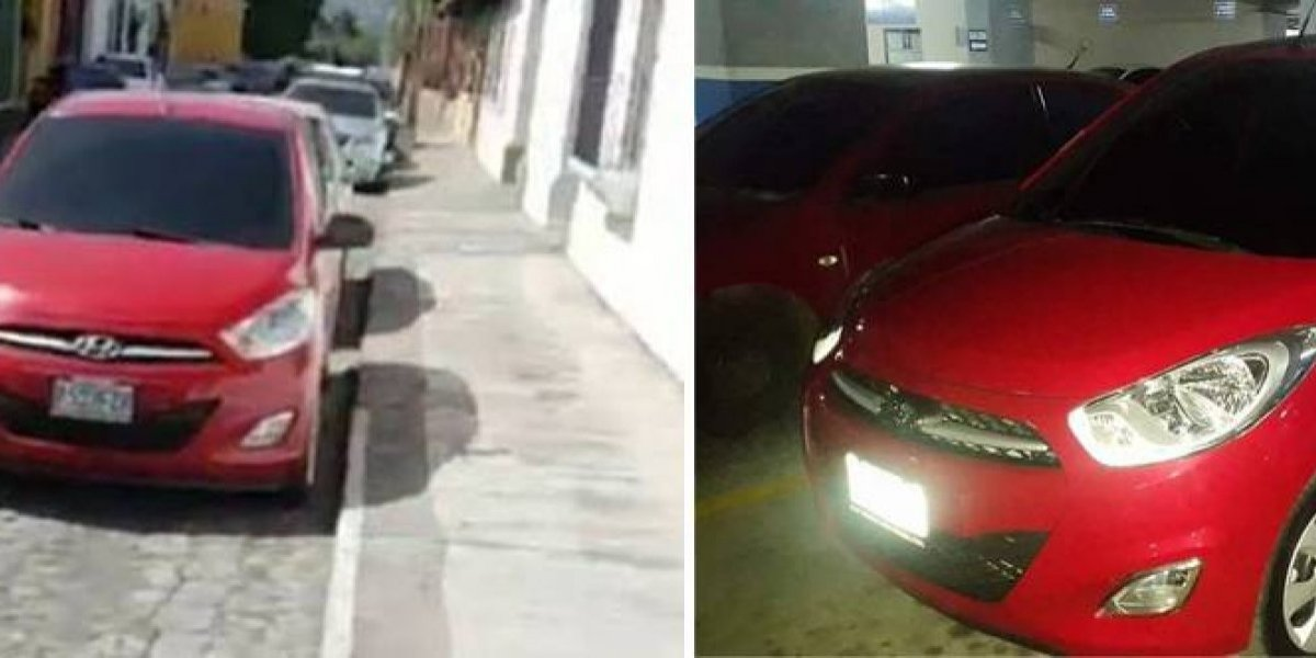 Roban vehículo en La Antigua Guatemala