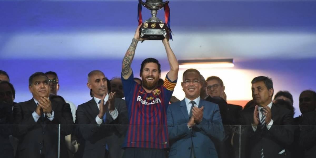 Messi ya es el hombre con más títulos del Barcelona