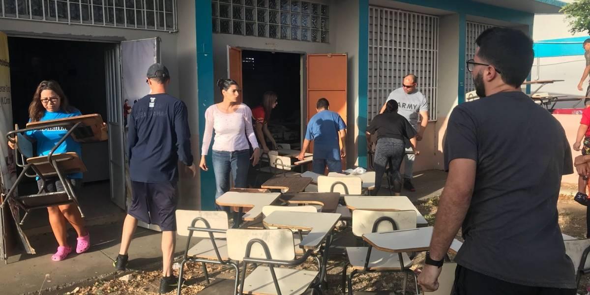 Personal de escuela en Santa Isabel se prepara para recibir a estudiantes