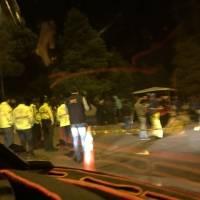 Venezolanos a las afueras de terminal Carcelén en Quito la noche del 12 de agosto