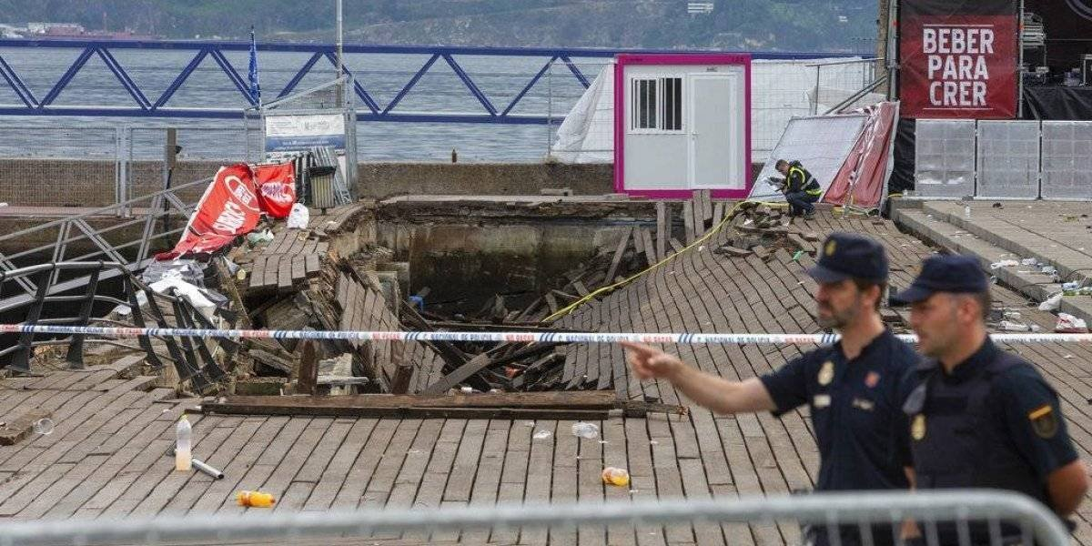 Colapso de paseo marítimo deja más de 300 heridos en España