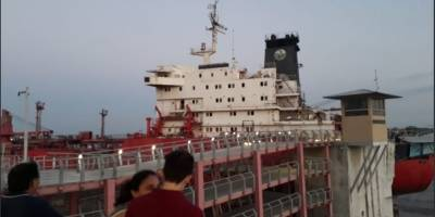 Barco de gran magnitud se impactó y dañó gran parte del puente peatonal Durán- SantayBarco de gran magnitud se impactó y dañó gran parte del puente peatonal Durán- Santay