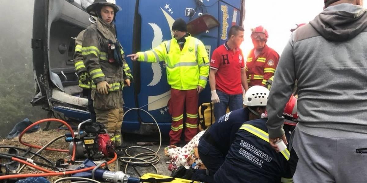 ATM: El bus accidentado con hinchas de Barcelona no contaba con revisión técnica