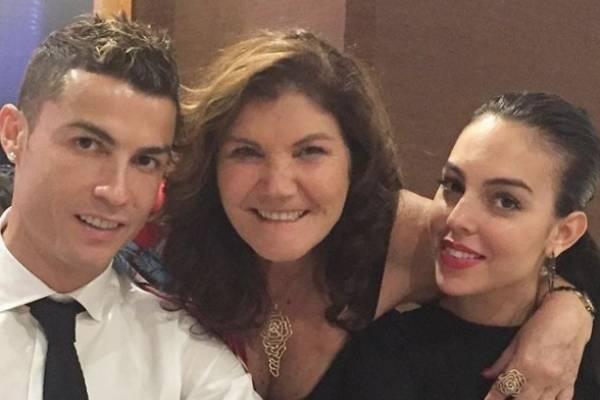Madre de Cristiano, CR7 y Georgina Rodríguez