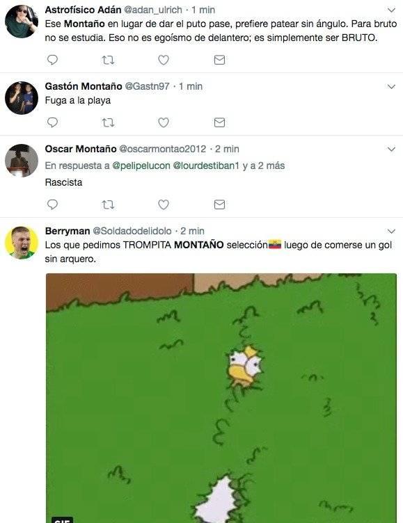 Tuits sobre Montaño