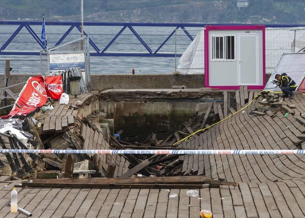 Colapso de paseo marítimo en Vigo