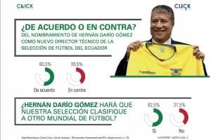 60,5 % de los ecuatorianos está de acuerdo con la contratación del 'Bolillo' como técnico según encuestadora