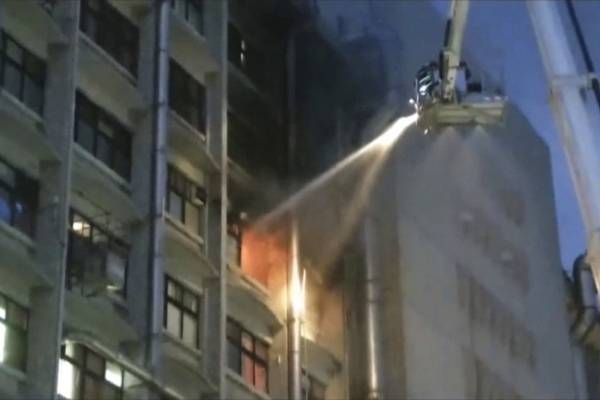 Incendio en hospital de Taiwán