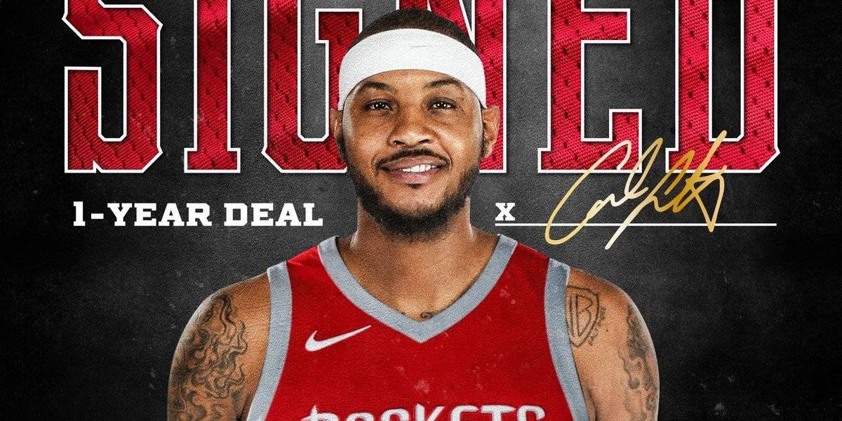 Carmelo Anthony ficha por los Houston Rockets — Ya es oficial