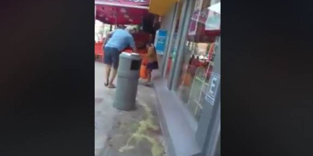 ¡Indignante! Hombre que tira ácido para ahuyentar a niña indígena fuera de una tienda en Cancún
