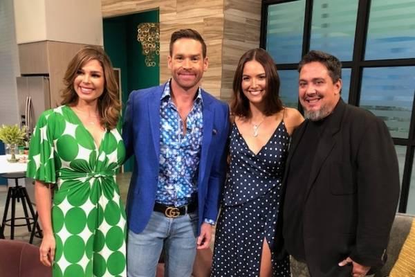 """Denise Quiñones y Clark Ivor anunciaron los premios en """"Viva la tarde"""". Foto: suministrada"""