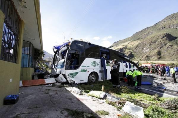 Accidente de bus en Ecuador