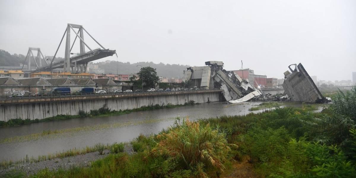 """El antes y el después del viaducto Morandi de Génova: un """"puente enfermo"""" del que ya alertaron de sus problemas en 2016"""