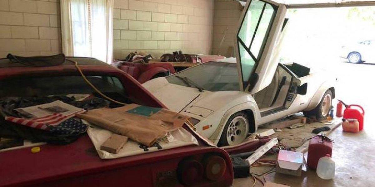 Volvió a la casa de sus abuelos luego de muchos años y encontró un verdadero tesoro: un Lamborghini Countach y un Ferrari 308
