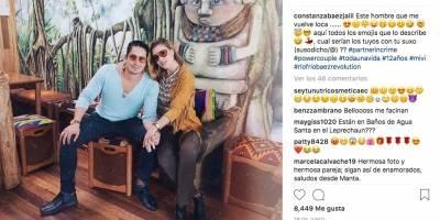 Constanza Báez y Nelson Riofrío en Instagram