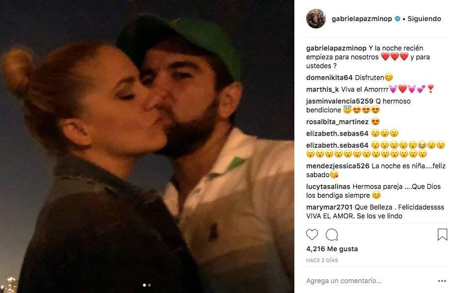 Gabriela Pazmiño y Dalo Bucaram en Instagram