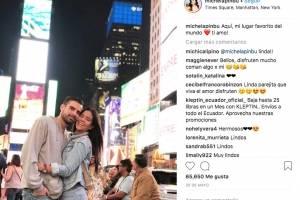 Michela Pincay y Dave Morales en Instagram