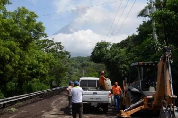 Covial se ha encargado de la limpieza de la carretera.