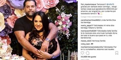 Flor María Palomeque y Roberto Chávez en Instagram