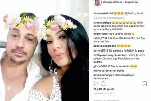Dora West y Danilo Vitanis en Instagram