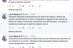 Twitter Lenín Moreno
