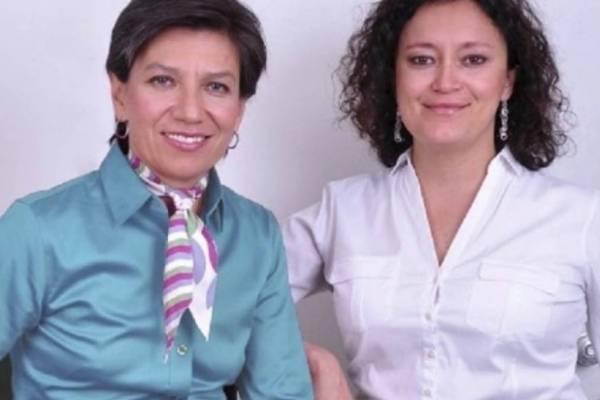 el piropo de Claudia López a la foto Angélica Lozano