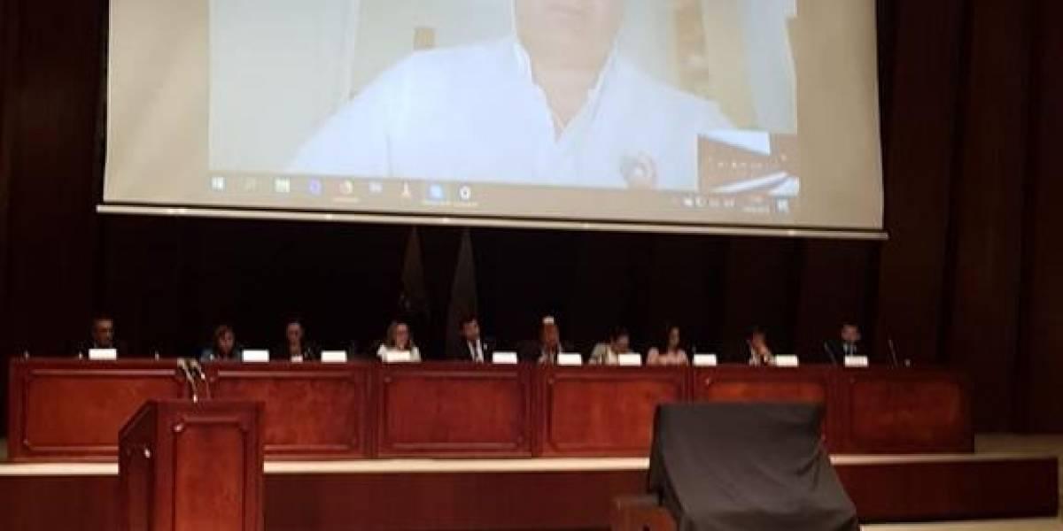Rafael Correa rinde su versión sobre el caso Gabela por videoconferencia