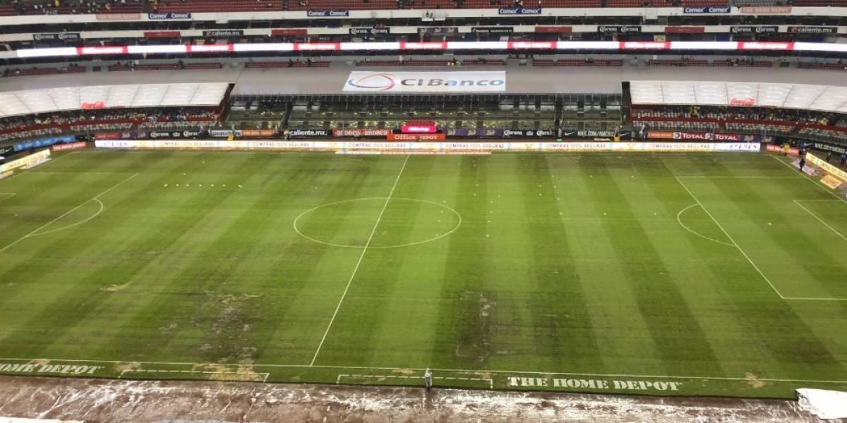 FOTOS: Las razones del deplorable césped en el Estadio Azteca