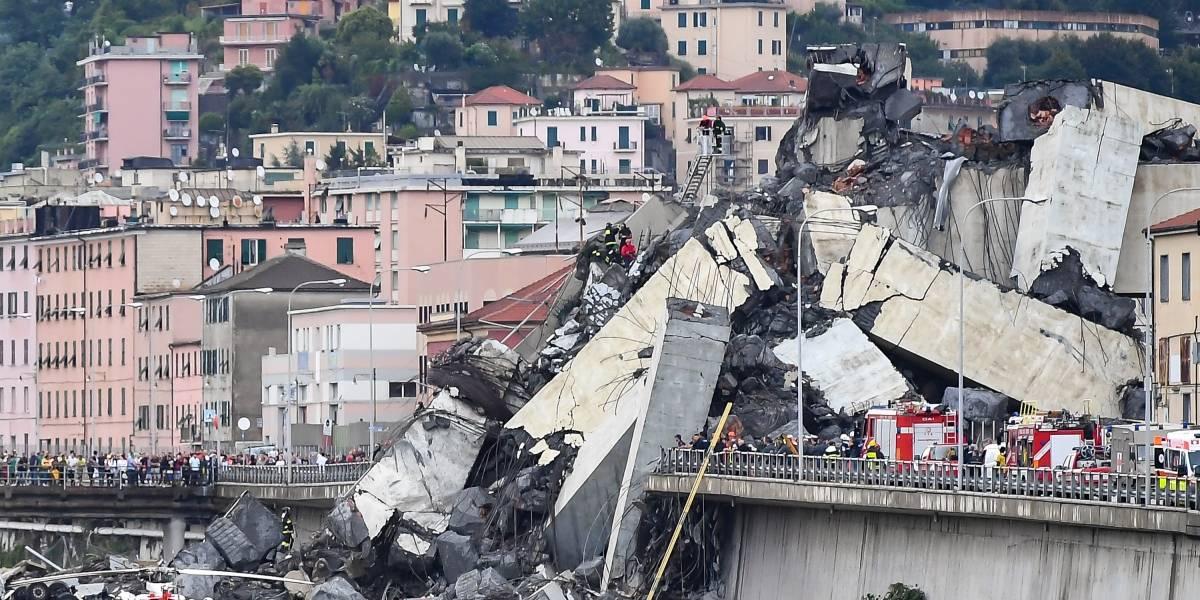 Lo que sabemos sobre el colapso del puente en Italia