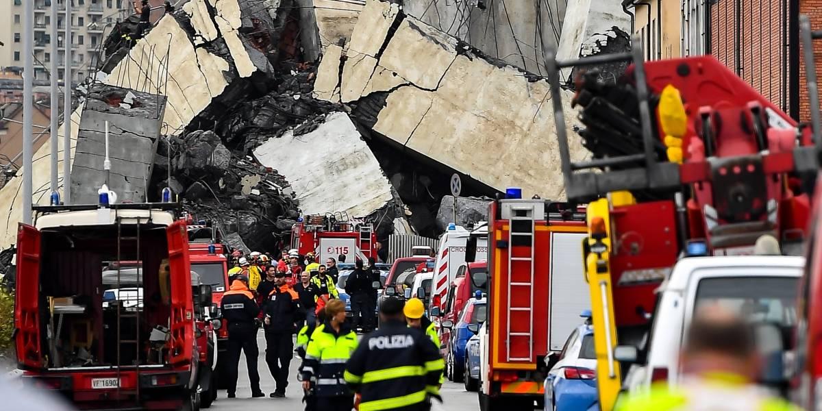 Un chileno entre las víctimas del derrumbe de puente en Génova