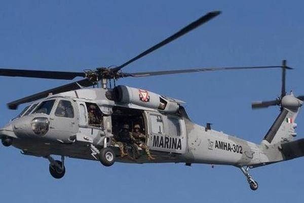 helicóptero de la marina
