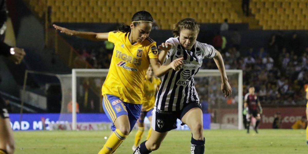 Tigres y Rayadas dividen puntos en el Clásico regio femenil