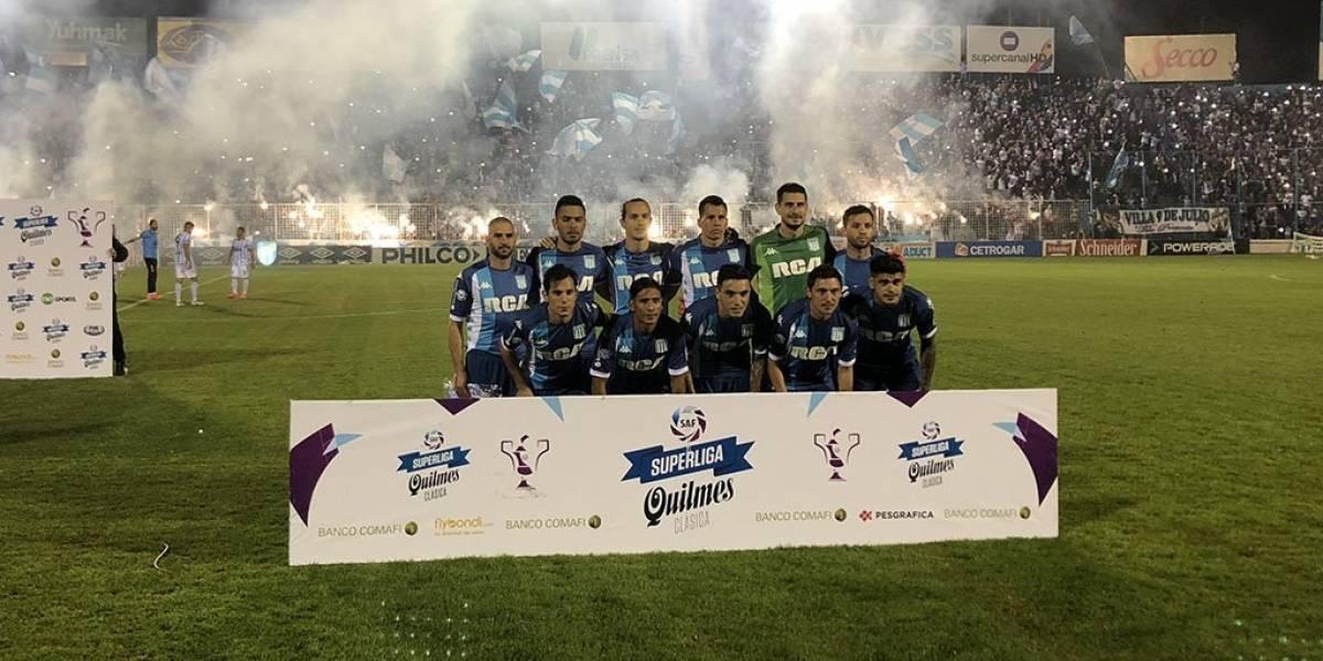 El Racing de los chilenos regaló un empate en su debut en la Superliga argentina