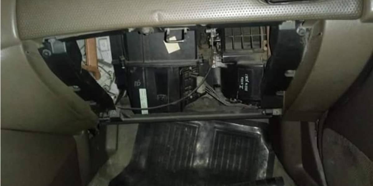 Alertan por robos a vehículos cerca de la Feria de Jocotenango