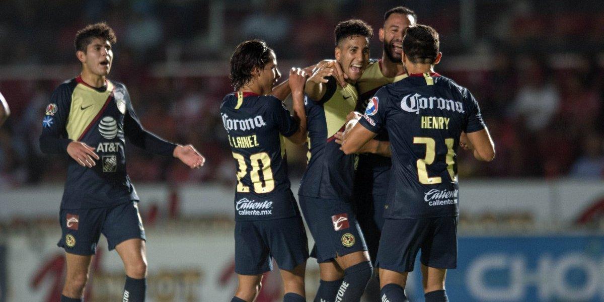 América mantiene el vuelo y golea a Veracruz en Copa MX