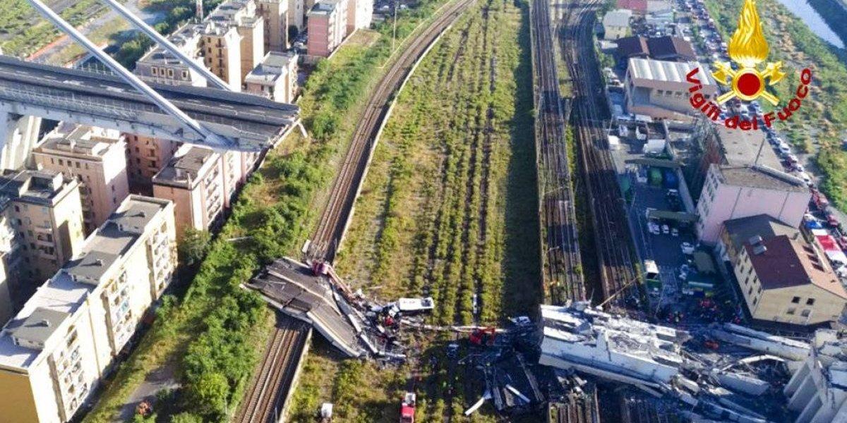 Aumenta cifra de muertos tras caer puente en Italia