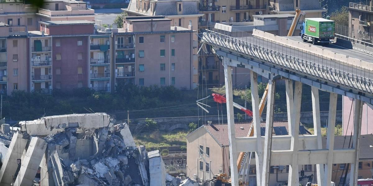 Aumenta a 39 muertos en Génova; posible error humano
