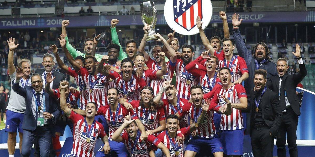 Atlético se impone al Real Madrid y conquista la Súper Copa de Europa