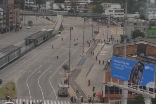 Disturbios en la Universidad Nacional calle 26