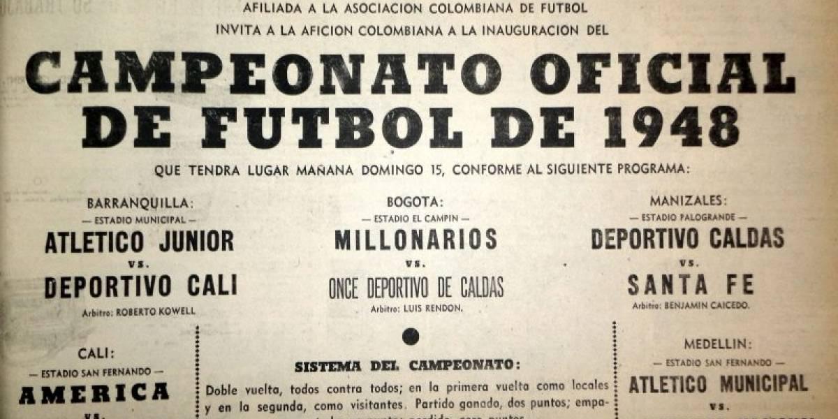 Del asesinato de Gaitán a los 70 años del fútbol profesional colombiano: así nació la Dimayor