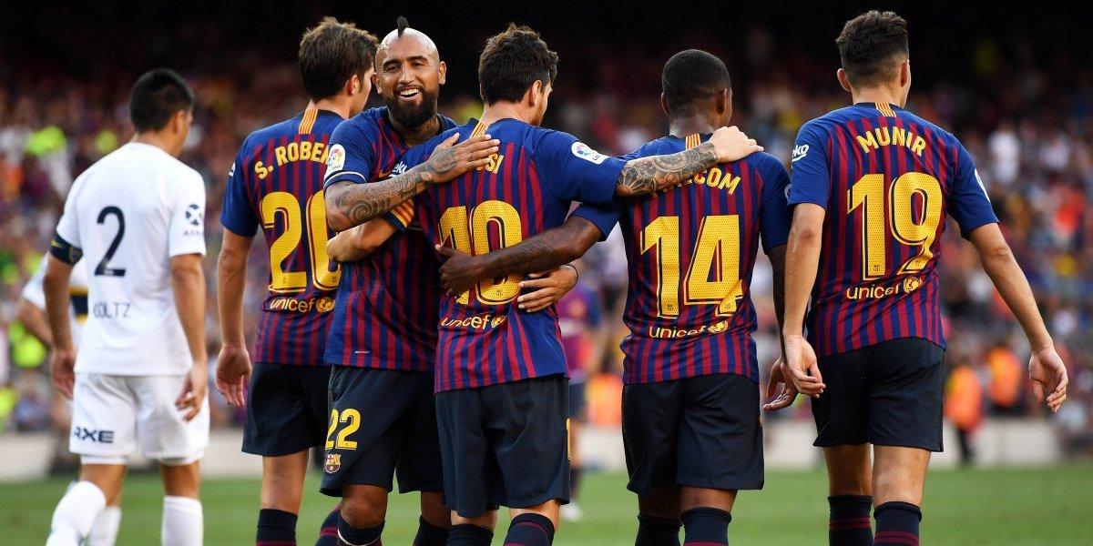 Vidal suma confianza y fue titular en la goleada de Barcelona ante Boca por el trofeo Joan Gamper