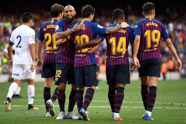 Vidal festejó con Barcelona / imagen: Getty Images