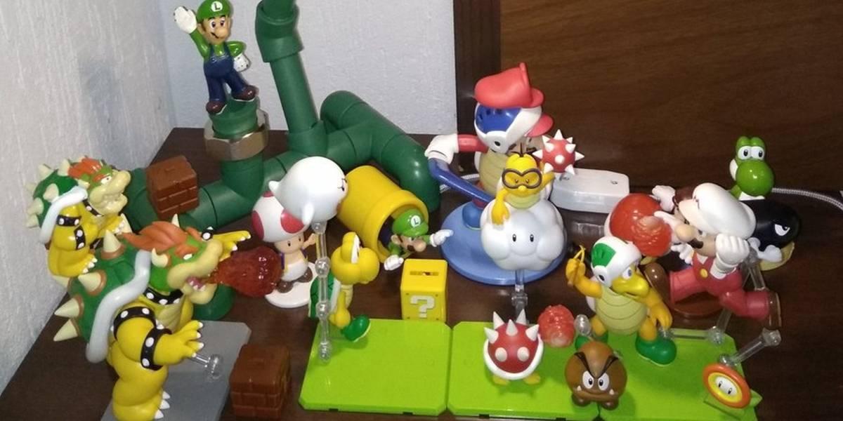Un padre de México se viralizó por fabricarle a su hijo una lámpara de Super Mario Bros