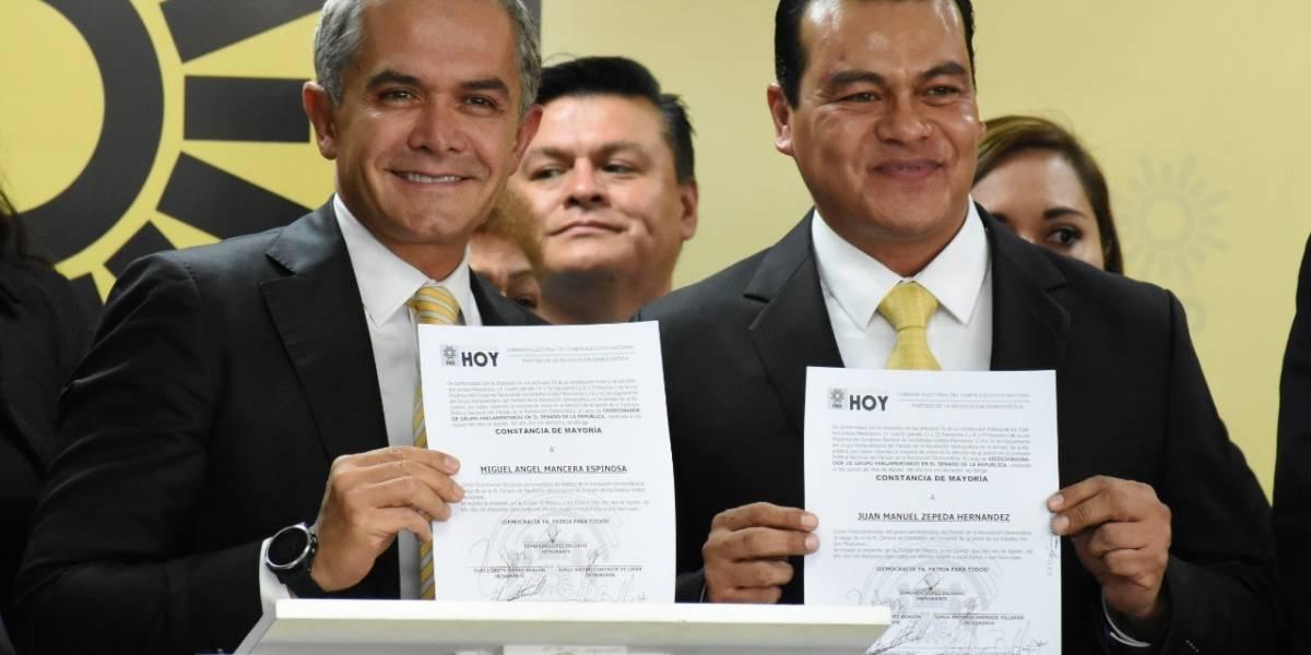 Mancera coordinará bancada del PRD en el Senado