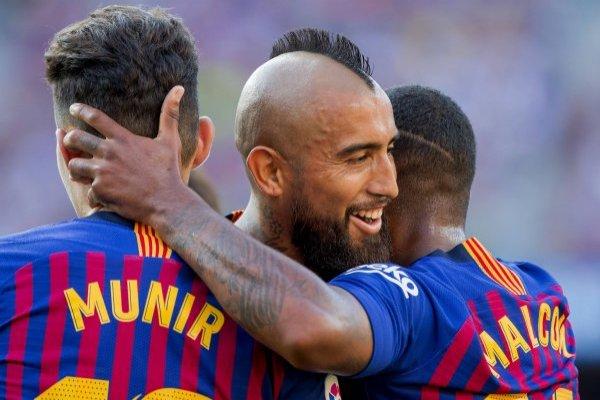 Vidal se afirma de a poco en Barcelona / imagen: Photosport