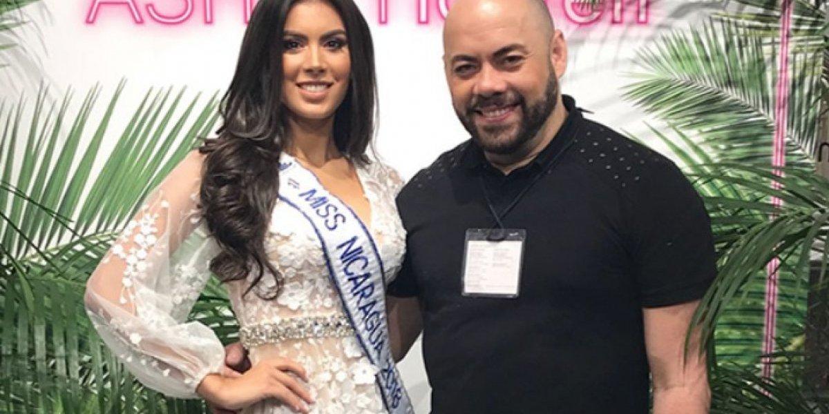 Boricua se luce como maquillista de Miss Nicaragua 2018