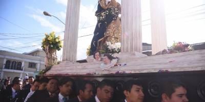 Procesión de la Virgen de la Asunción.