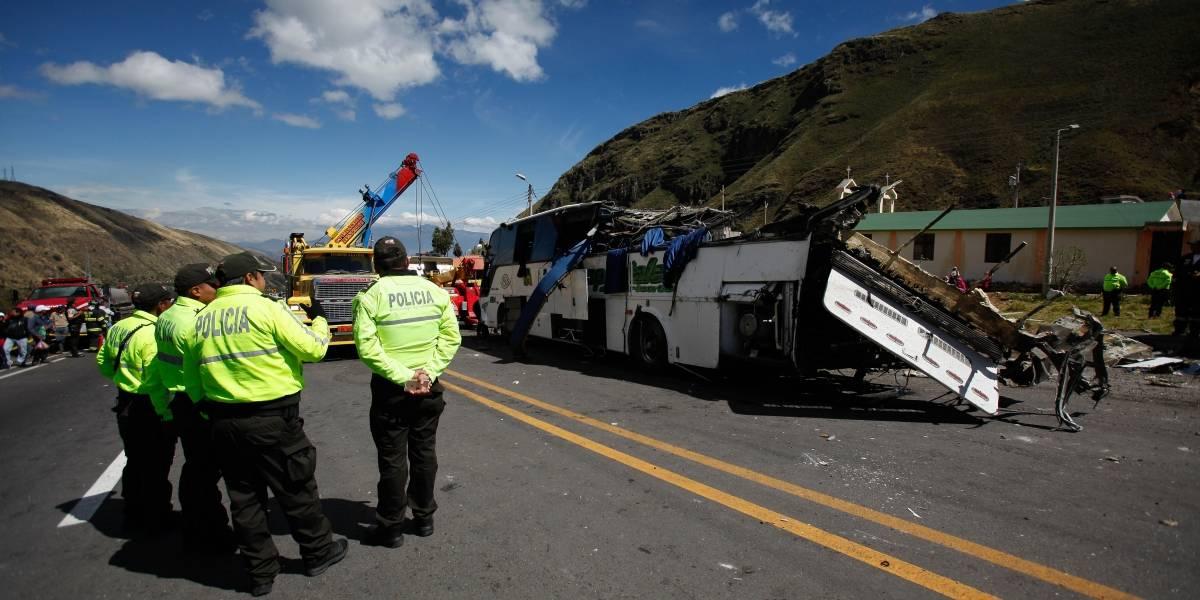 Tres personas que viajaban en bus accidentado en Papallacta sabían de la existencia los 580 paquetes de marihuana
