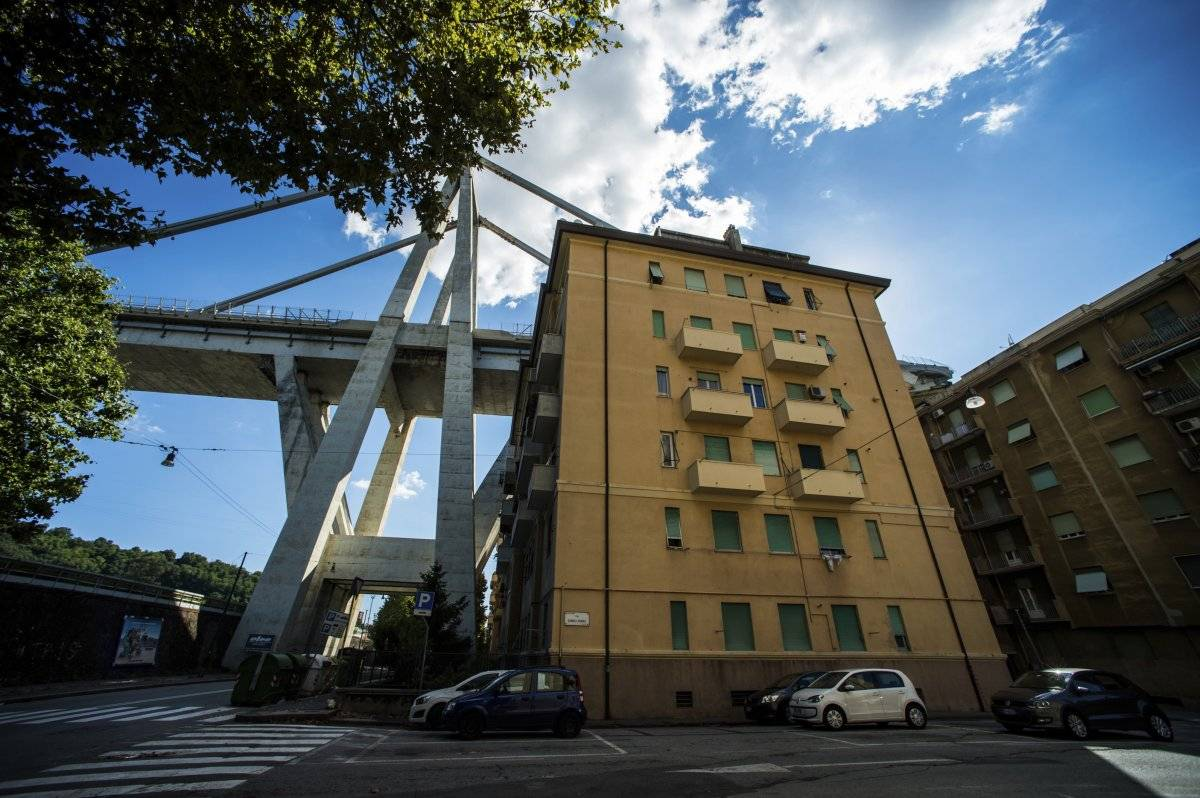 casas colapso puente Genova